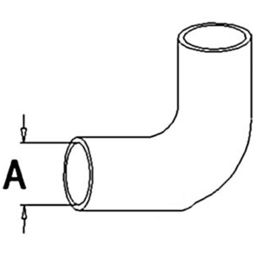 A&I Products 101963A Radiator Upper Hose - image 1