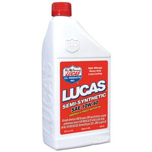 Lucas 10W-40 Semi-Synthetic Motor Oil Case of 6 x 1 quart 10176