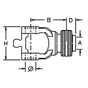 "Tractor Yoke CV slide Collar 1 3/4"" 20 spLine 141026505"