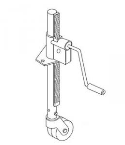 Jack Trailer & Imp. Steel Wheel-Frame Mount 750 Lb. 15A165W