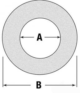 "Friction Disc/Clutch Lining 6.0"" O.D. 4.0"" I.D. 180017106"