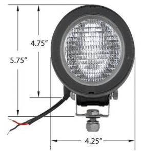 3.5 X 3 Oval Halogen Lamp Assembly Flood 28A463