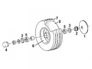Tire 350 X 8 4 Ply. 35084