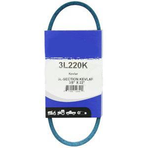 """Kevlar Blue V-Belt 3/8"""" X 22""""  3L220K"""