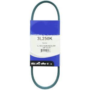 """Kevlar Blue V-Belt 3/8"""" X 25""""  3L250K"""