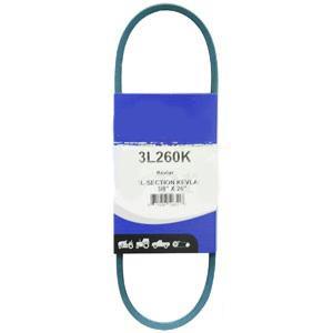 """Kevlar Blue V-Belt 3/8"""" X 26""""  3L260K"""