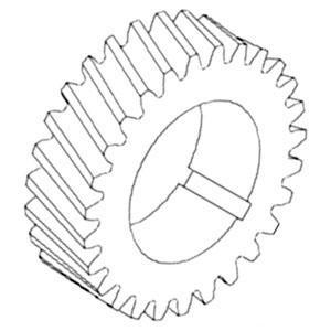 Gear Crankshaft Timing 43706D