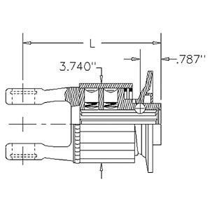"Radial Pin Clutch 1 3/8""- 6 QD K34B 8850 in.lbs 507959007"