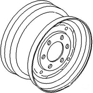 "Rim Front Wheel 4.5"" X 16"" 535448M1"