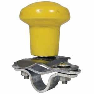 SpInner Aluminum Steering Wheel Yellow Plastic coated Knob 5A6YL