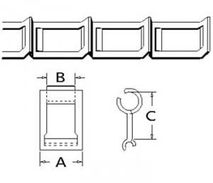 67H Steel Detachable Chain 10 ft 67H