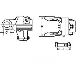 """Shear Bolt Clutch Type KB61/20-Right 1 3/8"""" 21 SpLine QD Pin 9003883"""