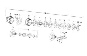 "Hub K92/4 Friction Clutch 1 3/8"" 21 SpLine 94982"