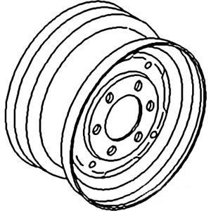 """Rim Front Wheel 4.5"""" X 16"""" 957E1015D"""