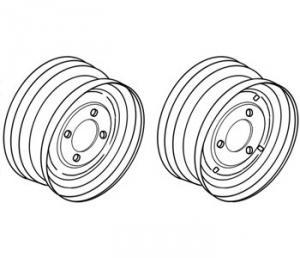"Rim Front Wheel 6"" x 14"" 98A1465"