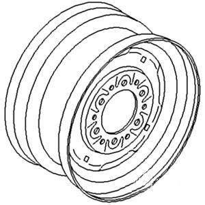 "Rim Front Wheel 6"" x 14"" 98A1466"
