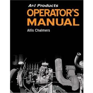 Allis Chalmers Operator Manual  AC-O-RAKE