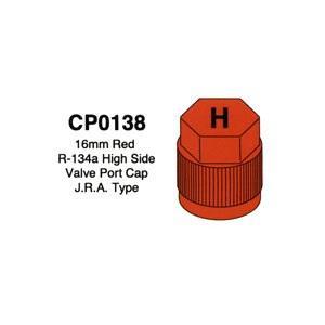 16mm Red R-134a High Side Valve Port Cap J.R.A. Type 10 Pack CP0138