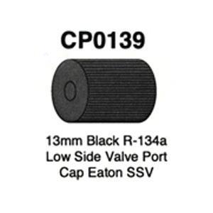13mm Black R-143a Low Side Valve Port Cap Eaton SSV 5 Pack CP0139