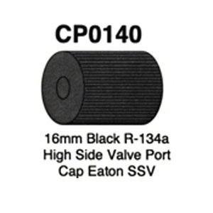 16mm Black R-134a High Side Valve Port Cap Eaton SSV 5 pk CP0140