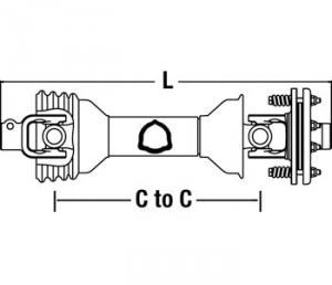 """DriveLine W/ 7.87"""" Friction Clutch CS64816"""
