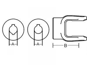 Implement Yoke Round Bore w/ DoubleKeyway & Set Screw D108616
