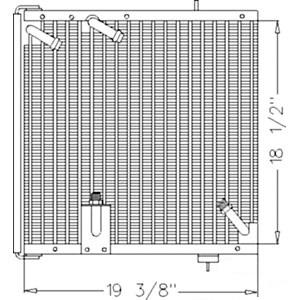 Cond./Oil Cooler Assy E1NN19N656BA15M