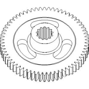 Gear Impeller 54 Tooth Splined Part # E84814