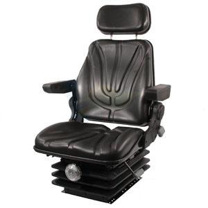 Seat F10 Series Mechanical Suspension / Armrest / Headrest / Black Vinyl F10M200