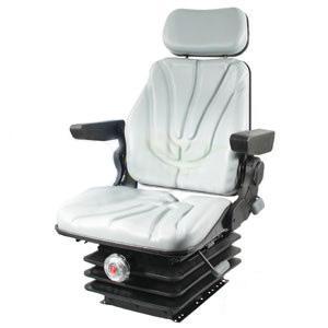 Seat F10 Series Mechanical Suspension / Armrest / Headrest / Gray Vinyl F10M230