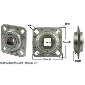 Bearing Flanged Disc Square Bore Re-Lubricatable FD209RK-I