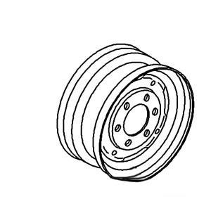 """Rim Front Wheel 4.5"""" x 16"""" FW45166"""