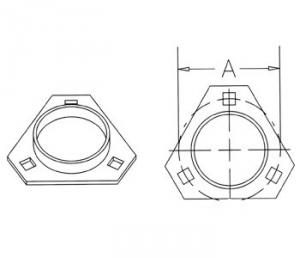 Pressed Flanged Housing H103265