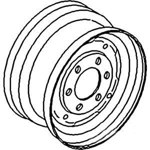 "Rim Front Wheel 4.5"" X 16"" K947937"