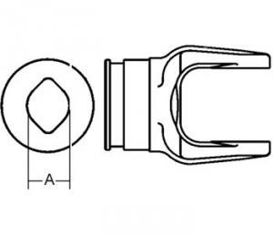 Inboard Yoke used w/ Ov OvGA & OvGEH Inner Profile Tubing W041315-A