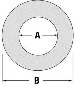 "Friction Disc/Clutch Lining 6.2"" O.D. 3.93"" I.D. W177009"