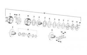 """Hub K92/4 Friction Clutch 1 3/8""""-21 Splined W42105"""
