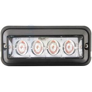 Warning Light LED Amber Flashing Black Housing WA9810